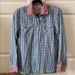 Plaid flannel button up shirt multimedia
